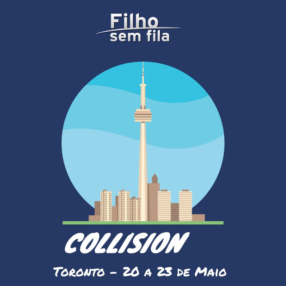 Filho sem Fila no Collision, em Toronto.